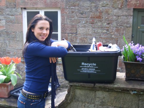Melanie C with her Black Box